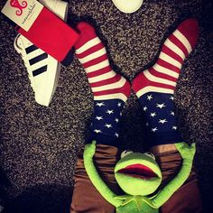 Nanushki socks men socks muppet show  US flag Kermit adidas originals