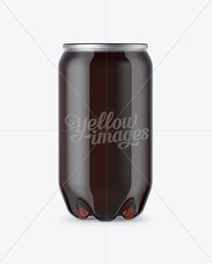 PET Can with Dark Drink Mockup
