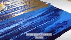 Adding gold to my abstract painting Abstract Painting Techniques, Abstract Canvas Art, Diy Canvas Art, Oil Painting Abstract, Acrylic Painting Canvas, Painting Art, Knife Painting, Oil Paintings, Gold Leaf Art