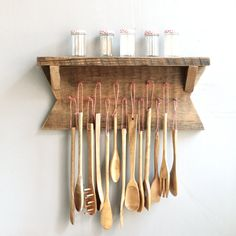 Love this Etsy listing at https://www.etsy.com/listing/172770943/vintage-wooden-kitchen-utensils-with