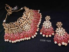 VeroniQ Trends at Bonanza - Jewelry & Watches, Fashion Jewelr. Indian Jewelry Sets, Indian Wedding Jewelry, Indian Jewellery Design, Bridal Jewelry, Indian Bridal, India Jewelry, Jewellery Designs, Ethnic Jewelry, Bridesmaid Necklace Gift