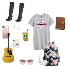 """""""All I need for school"""" by kaitlynneal on Polyvore featuring H&M, Casetify, Miz Mooz, Ted Baker, Fuji, Frends, Linda Farrow and Mulberry"""