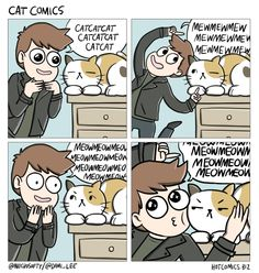what is it about pets that make us ACT A FOOL | cat comic by Dami Lee of As Per Usual
