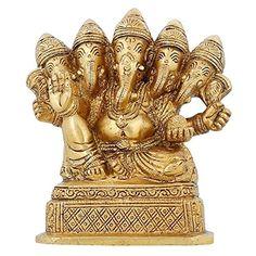 Panchmukhi Ganesha Brass Statue Five Faced Indain God Murti Idol Hindu Religious 4.5 inch ShalinIndia http://www.amazon.in/dp/B00YN4A2ES/ref=cm_sw_r_pi_dp_lDV3vb0TNDHJE