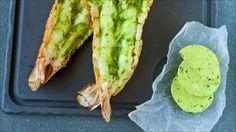 Grillede sjøkreps med ingefær og gressløk - Godt.no - Finn noe godt å spise