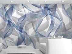 Optical vinyl wallpaper WHISP Multiverse Collection by GLAMORA | design Karim Rashid