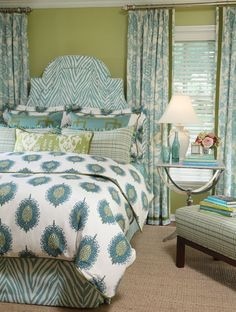 Lots of aqua and green room inspirations.