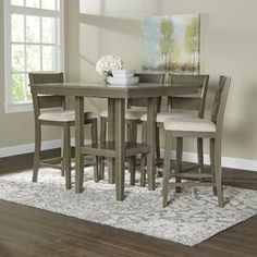 A True Vision, This Dining Set Serves As The Backbone Of Your Dining Room,  Providing The Framework For Many A Memorable Meal.