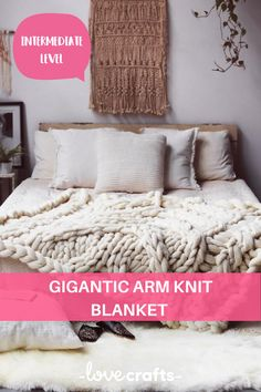 Turn your bedroom into a haven of cosiness with this amazing blanket. Arm knitting is a great way to knit up home wear to see instant, satisfying results.