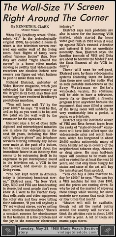 Vintage Toledo TV - Random Pages - Kenneth R. Clark (Chicago Tribune) story (Thu 5/28/85 Blade Peach Section)