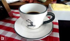 Gmundner Keramik: Espressotasse Grauer Hirsch (Foto wohlgeraten.de)
