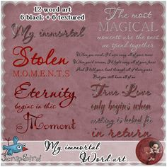 My immortal word art by Scrap'Angie