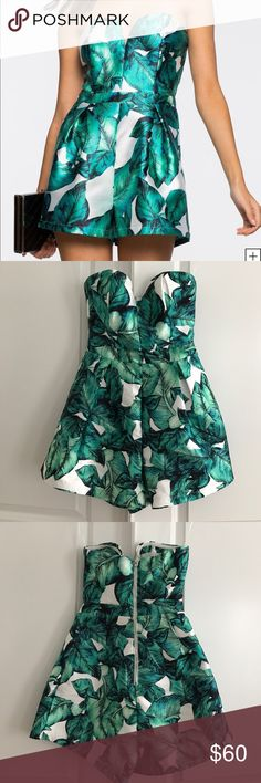 Palm print romper Worn once to dinner. In perfect condition. Purchased at a local boutique. No trades! Other