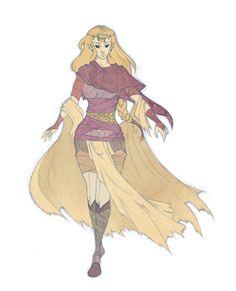 Legend of Zelda webcomic, Demon road art. Zelda (awesome outfit)