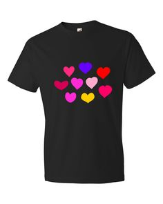 Hearts Lightweight Fashion Short Sleeve T-Shirt by iTEE.com