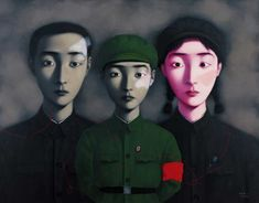 Zhang Xiaogang is China's most expensive living artist, with his paintings of families in Mao era clothing fetching $10,000,000 at auctions