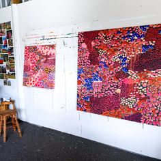 Busy studio Abstract Art, Quilts, Blanket, Studio, Artist, Painting, Color, Quilt Sets, Painting Art