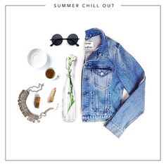 Summer Chill Out - Put on your favourite denim jacket, throw on the shades and place a Shanti secret on your neck. Let the summer vibes sink in.