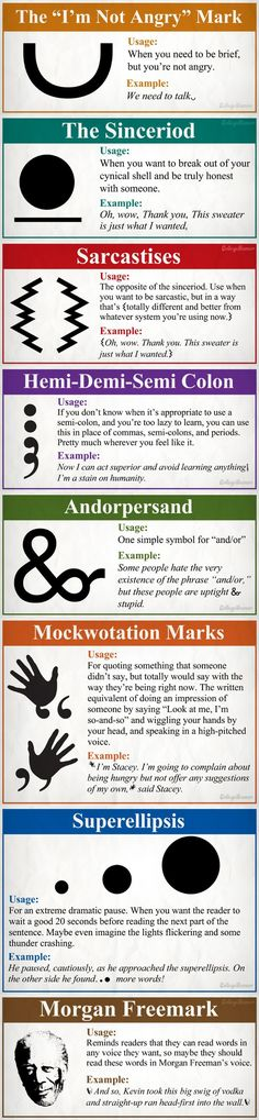 8 New Punctuation Marks We Need infographic