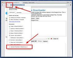 Hogyan lehet többszörös letöltési beállítások a Chrome-ban