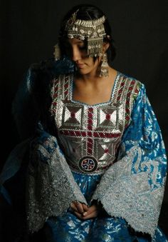 Beautiful traditional Dress and Headwear from Afghanistan.