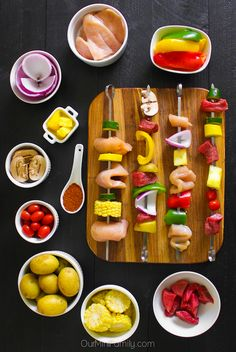 A kabob bar would be so fun for a cookout party!