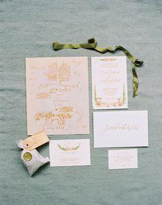 Invitation suite by Hazel Wonderland. Image by Tec Petaja. See more in the Winter 2014 issue of Weddings Unveiled: www.weddingsunveiledmagazine.com.
