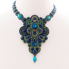 soutache jewelry | Soutache jewelry. Handmade Jewelry, soutache necklace, beaded jewelry ...