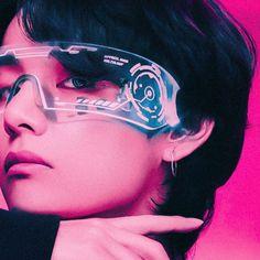 Taehyung Fanart, V Taehyung, Wallpaper Iphone Cute, Bts Wallpaper, V Chibi, Cyberpunk Aesthetic, Bts Aesthetic Pictures, Dark Photography, Cybergoth