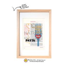 Kitchen Wall Art Love Pasta printItalian kitchen by naturapicta, $9.99 © NATURA PICTA All Rights Reserved