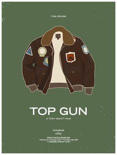 Affiches de films par les vêtements  design