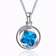 18K White Global Quadular Sapphire Necklace