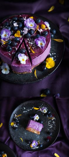 Call me cupcake Vegan no bake blueberry lemon cheesecake