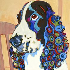 Pretty in Curls - painting by Carolee Clark