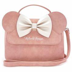Loungefly Disney Minnie Mouse Ears Bow Pink Crossbody Hand Bag Purse  WDTB1310 d94bbbda0d9d8