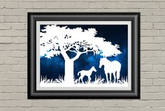 Horse Art, Paper Cut Out, Papercutting Art, Equestrian Wall Art, Equestrian Decor, Horse Lover, Horse Gift, Wall Art Prints - pinned by pin4etsy.com