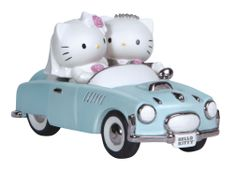 Precious Moments Hello Kitty and Dear Daniel Wedding Couple in Car Wedding Cake Topper Figurine