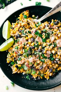 Mexican Street Corn Pasta Salad with tons of veggies, bacon, and a simple creamy chili-lime dressing. @chelsealords