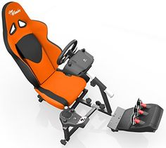 Openwheeler Racing Wheel Stand Cockpit Orange/Black | For Logitech G29 | G920 and Logitech G27 | G25 | Thrustmaster Wheels | Racing wheel & controllers NOT included  http://gamegearbuzz.com/openwheeler-racing-wheel-stand-cockpit-orangeblack-for-logitech-g29-g920-and-logitech-g27-g25-thrustmaster-wheels-racing-wheel-controllers-not-included/
