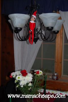 Even though things that come alive at night freak me right out, for some reason I totally want to do the Elf on a Shelf thing!