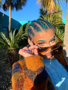 Black Girl Braided Hairstyles, Black Girl Braids, Girls Braids, Pretty Hairstyles, Girl Hairstyles, Curly Hair Styles, Natural Hair Styles, Different Hair Colors, Black Girl Aesthetic