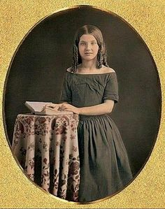 A sweet young lady..1840s.