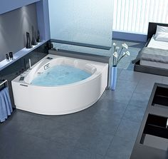 Le système SilencéO, disposé sur la baignoire Maloya, vous offre un moment détente tout en silence. En prime, 6 massages différents, prodigués par 6 buses rotatives, 4 hydrojets dorso-lombaires et 10 mini-buses de fond, sans omettre la chromothérapie… ©Grandform http://www.domodeco.fr/interieur/salle-de-bains/la-salle-de-bains-vise-l-eveil-des-sens.html