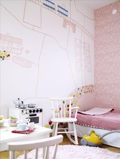 #pink #kids #room