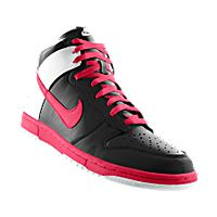 ... i designed the black pink and white long island blackbirds nike dunk  high be true ...