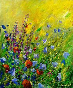 Яркоцветочная живопись Pol Ledent