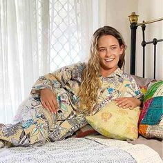 Elegant cotton designer pyjamas are so comfy; you'll never want to change. The easy fit is delightful to wear and feels great on your skin. Yummy Linen Brand.