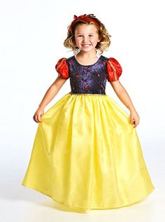 Little Adventures Deluxe Snow White Girls Princess Costume - X-Large (7-9 Yrs)