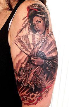 Tattoo Artist - Rember Orellana - Geisha tattoo
