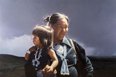 Navajo Mother and Child by George Molnar kp